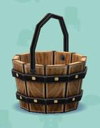 ポケ森の木製バケツ