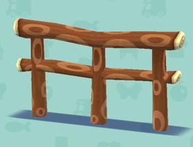 ポケ森の横向きの丸太の柵