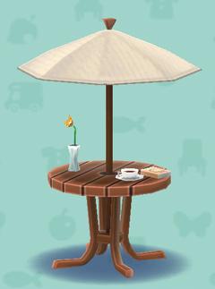 ポケ森のカフェなパラソルテーブル