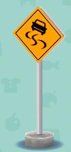 ポケ森の警告標識