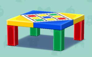ポケ森のカラフルなテーブル