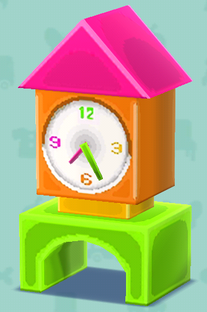 ポケ森のカラフルな時計(クラフト)