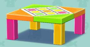 ポケ森のカラフルなテーブル(クラフト)