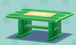 ポケ森の緑のテーブル