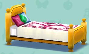 ポケ森のカントリーなベッド
