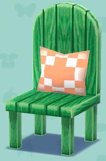 ポケ森の緑のイス