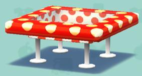 ポケ森の水玉なテーブル