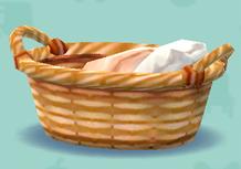 ポケ森のタオルのバスケット