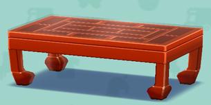 ポケ森のすかしぼりのテーブル