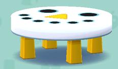 ポケ森の雪だるまテーブル