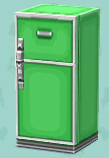 ポケ森のレトロな冷蔵庫