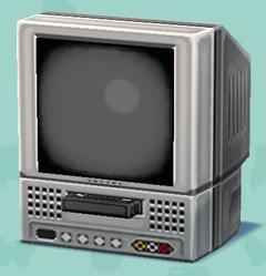 ポケ森のビデオ付きテレビ