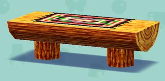 ポケ森のログソファテーブル