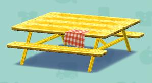ポケ森のピクニックテーブル