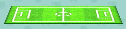 ポケ森のサッカーグラウンドのラグ