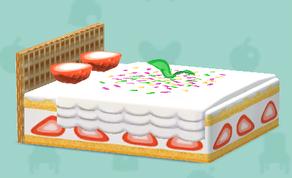 ポケ森のお菓子のベッド