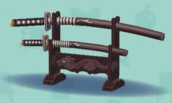 ポケ森の黒い日本刀
