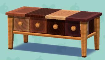 ポケ森のミックスウッドのテーブル