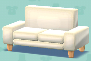 ポケ森のシンプルなソファ