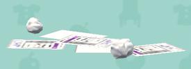 ポケ森の散らばった紙