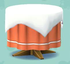 丸いクロステーブル(クラフト)