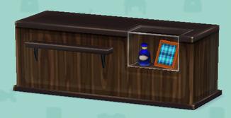 ポケ森の木製カウンター