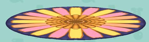 ポケ森のフラワーなラグ(クラフト)