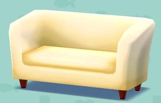 ポケ森の白いソファ