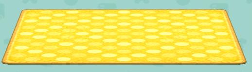 ポケ森の水玉なラグ