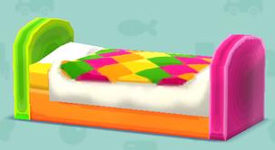 ポケ森のカラフルなベッド(クラフト)