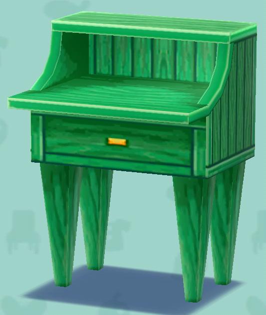 ポケ森の緑のデスク