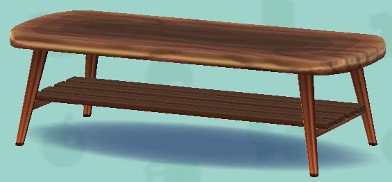 ポケ森のナチュラルなローテーブル