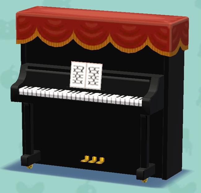 ポケ森のアップライトピアノ
