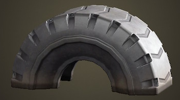 あつ森のタイヤの遊具