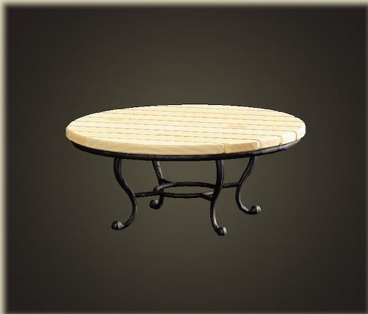 あつ森のナチュラルなガーデンテーブル