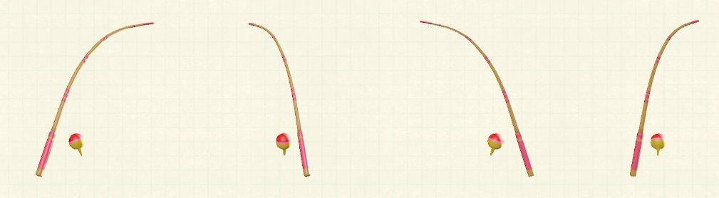あつ森のつりざおのリメイクピンクパターン