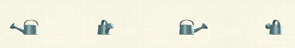 あつ森のジョウロのリメイクブルーパターン