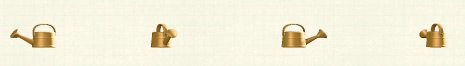 あつ森のジョウロのリメイクオレンジパターン