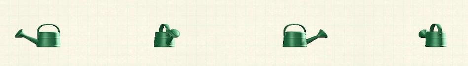 あつ森のジョウロのリメイクグリーンパターン
