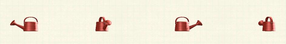 あつ森のジョウロのリメイクレッドパターン