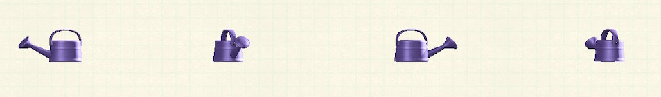 あつ森のジョウロのリメイクパープルパターン