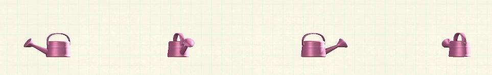 あつ森のジョウロのリメイクピンクパターン