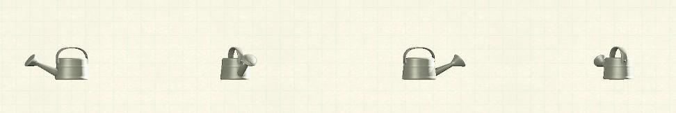 あつ森のジョウロのリメイクホワイトパターン
