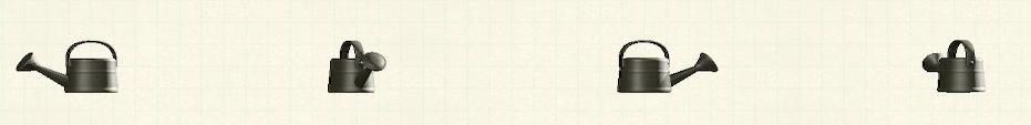 あつ森のジョウロのリメイクブラックパターン