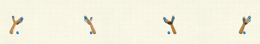あつ森のパチンコのリメイクブルーパターン