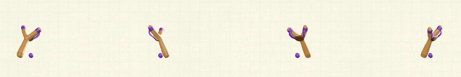 あつ森のパチンコのリメイクパープルパターン