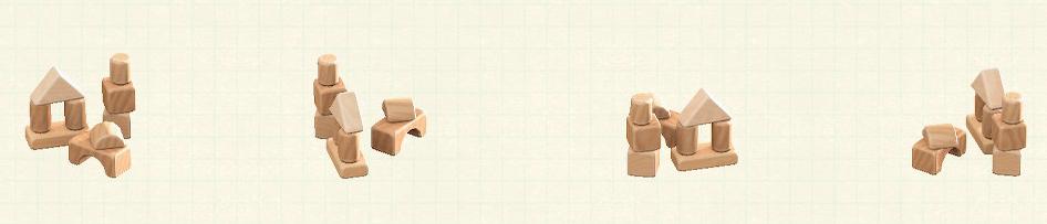 あつ森のつみきのおもちゃのリメイクナチュラルパターン
