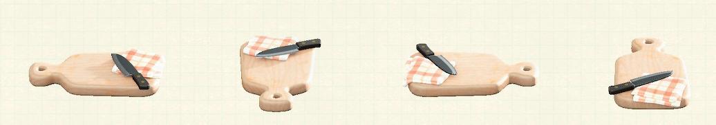 あつ森のカッティングボードのリメイクふきんマイデザインパターン
