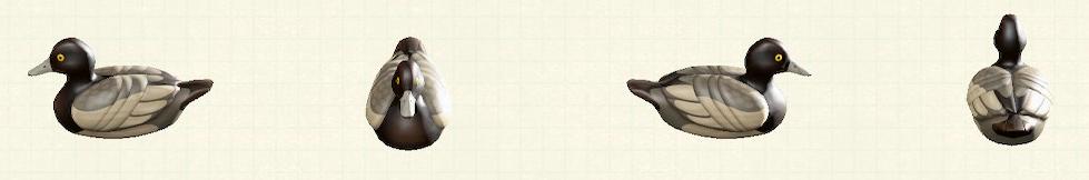 あつ森のデコイのリメイクスズガモパターン