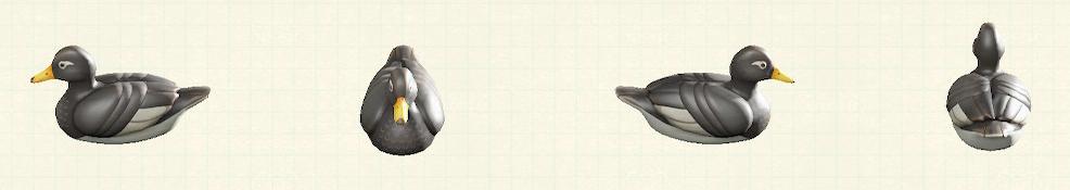 あつ森のデコイのリメイクオオフナガモパターン